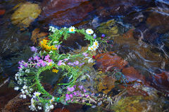 Wreaths in the water Royalty Free Stock Photography