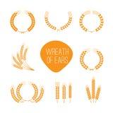 Wreaths of wheat ears Stock Image