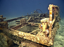 Wreck. Taken at Ras mohammed,sharm el sheikh Royalty Free Stock Photo