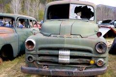 Wreck 5. Old car in a junkyard Stock Photos