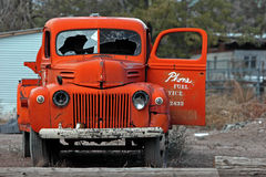 Wreck. Ed truck Stock Photo