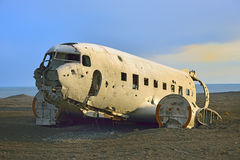 Wreck of an airplane Royalty Free Stock Photo
