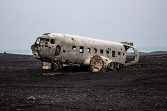 Wreck of an airplane royalty free stock photography