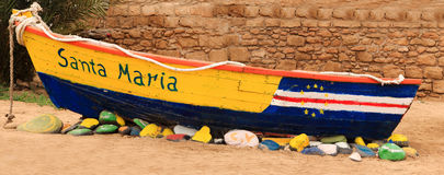 Wreck boat cape verde Stock Photo