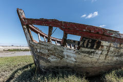 Wreck at the boat cemetery Royalty Free Stock Image