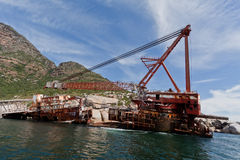 Wreck of Boat in Hout Bay Cape Town Royalty Free Stock Photo