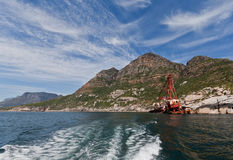 Wreck of Boat in Hout Bay Cape Town Royalty Free Stock Image