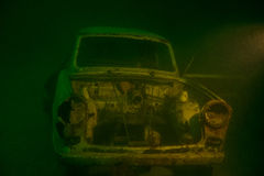 Wreck car. Underwater germany old car wreck Stock Images