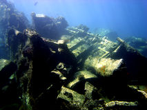 Wreck cargo Royalty Free Stock Images