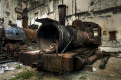 Wreck of communist locomotive in Havana, Cuba Royalty Free Stock Image