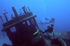Wreck diving Royalty Free Stock Photo