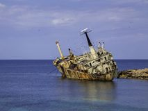 Wreck of the Edro III in Cypurus royalty free stock images
