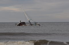 Wreck of Fishboat Royalty Free Stock Image