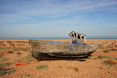 Wreck of Fishing Boat at Dungeness Royalty Free Stock Image