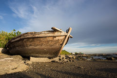 Wreck fishing boat Stock Images