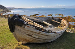 Wreck of Fishing boat, Iceland Royalty Free Stock Photos