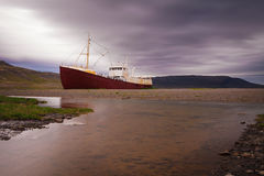 Wreck of Fishing boat, Iceland Stock Photography