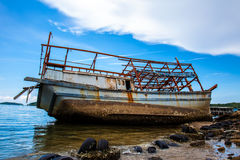 Wreck fishing boat Stock Photography