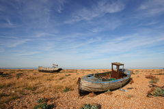Wreck of Fishing Boats at Dungeness Stock Image