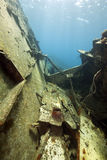 Wreck freighter Kormoran - sank in 1984 Tiran Royalty Free Stock Photos