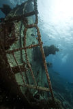 Wreck freighter Kormoran - sank in 1984 Tiran Royalty Free Stock Images