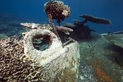 Wreck freighter Kormoran - sank in 1984 Tiran Royalty Free Stock Photo