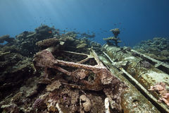 Wreck freighter Kormoran - sank in 1984 Tiran Stock Photo