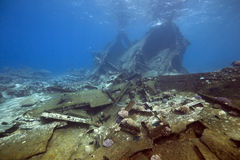 Wreck freighter Kormoran - sank in 1984 Tiran Stock Photography