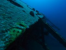 Wreck of the Hilma Hooker of the coast of Bonaire, Netherlands Antilles Royalty Free Stock Photography