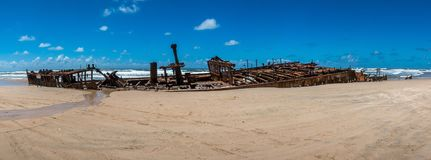 The wreck of the Maheno stock images