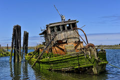 Wreck of the Mary D Hume, Gold Beach, Oregon Stock Image