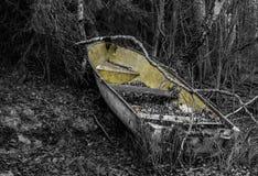 Wreck. Old boat wreck by the river Kymijoki, Kouvola Royalty Free Stock Image