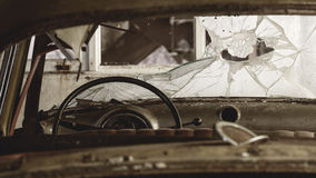 Wreck of old car Stock Photography
