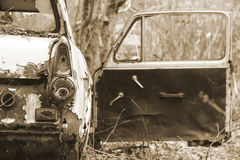 Wreck of old car Royalty Free Stock Photos