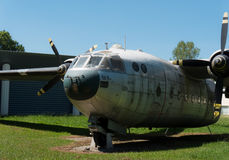 Wreck of old military aircraft. The wreck of old military aircraft Stock Photo