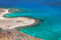 Lagoon Balos, Gramvousa, Crete, Greece Royalty Free Stock Photography