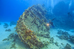 Wreck in the Red Sea Stock Photography