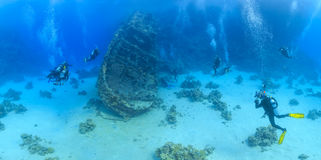 Wreck in the Red Sea Stock Photos