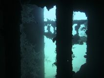Wreck Underwater Royalty Free Stock Photos
