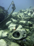Wreck With Cargo Of Toilets Royalty Free Stock Photo
