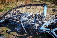 Car wreckage after car accidentcar accident. The wreckage of the cab after car accident Stock Images