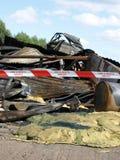 Wreckage after lightning Stock Images