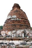 Wreckage of Pagoda. In the old temple shows the glory of the past Stock Photo