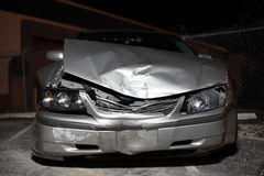 Wrecked Automobile. Automobile after a front end collision Stock Photo