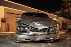 Wrecked Automobile. Automobile after a front end collision Stock Photos