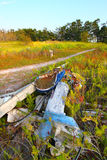 Wrecked Boat in the Everglades Stock Photography