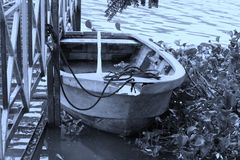 Wrecked boat royalty free stock image