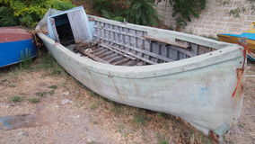 Wrecked boat. Royalty Free Stock Photography