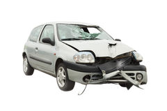 Wrecked car accident Royalty Free Stock Images