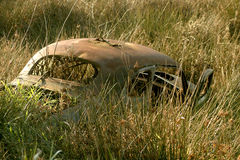 Wrecked Car, Field Stock Images